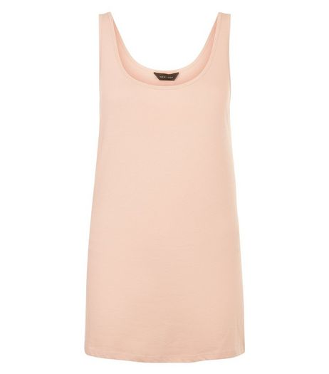 Mid Pink Scoop Neck Vest  | New Look