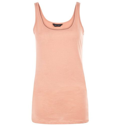 Coral Scoop Neck Vest  | New Look