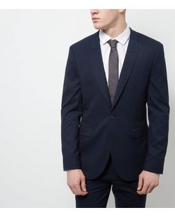 Navy Suit Jacket  | New Look