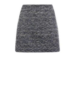Black Boucle Knit Suit Skirt  | New Look