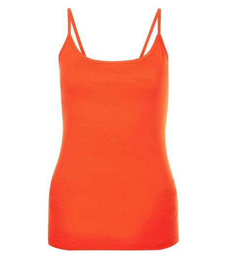 Bright Orange Scoop Neck Cami | New Look