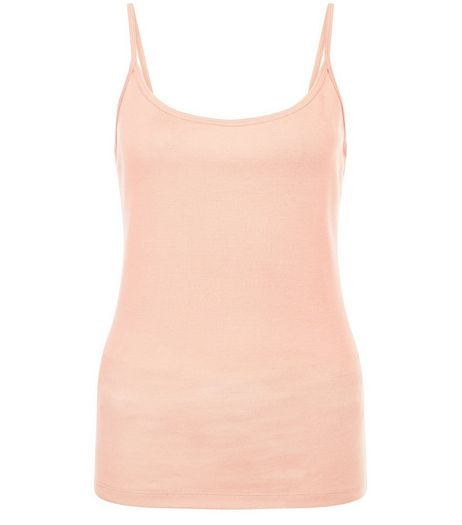 Coral Scoop Neck Cami | New Look