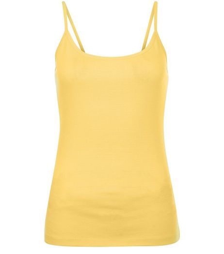Yellow Scoop Neck Cami | New Look