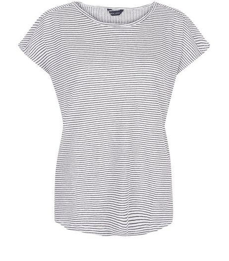 White Stripe T-Shirt  | New Look