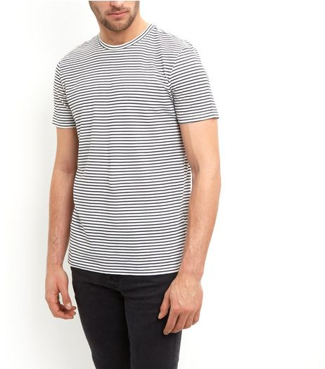 Navy Stripe T-Shirt | New Look