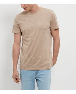 Camel Paisley Print Short Sleeve T-Shirt | New Look