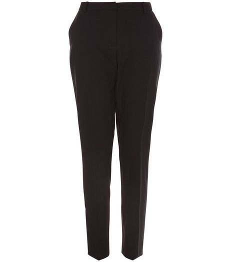 Black Stretch Slim Fit Trousers  | New Look