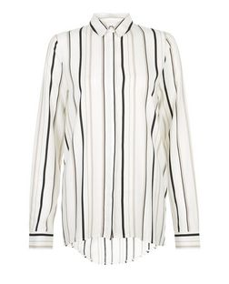 Tall White Stripe Long Sleeve Shirt | New Look