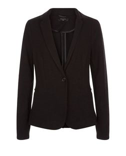 Tall Black Jersey Blazer  | New Look