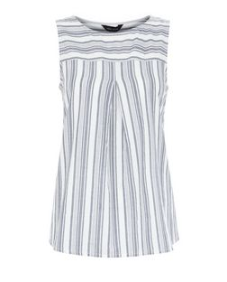 White Stripe Shell Top | New Look
