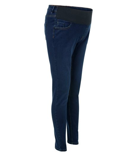 Maternity Blue Under Bump Supersoft Skinny Jeans | New Look