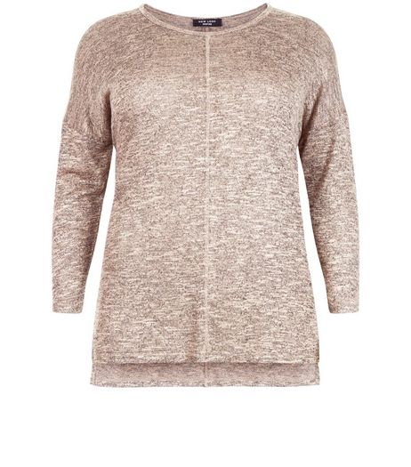 Curves Camel Seam Front Jumper | New Look
