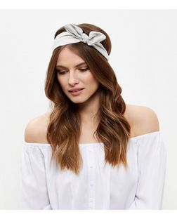 Grey Suedette Bandana | New Look