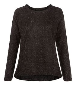Madam Rage Black Metallic Flecked Jumper | New Look