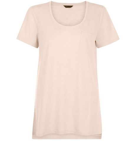 Mid Pink Single Pocket T-Shirt  | New Look