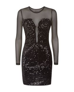 Madam Rage Black Sequin Bodycon Dress | New Look
