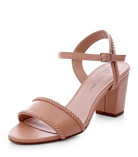 Teens Camel Leather-Look Block Heel Sandals | New Look