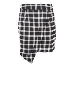 Madam Rage Black Check Wrap Front Skirt | New Look