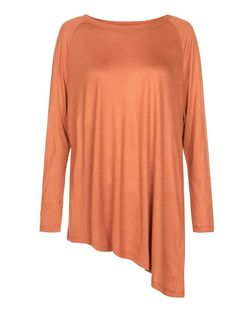 Anita and Green Orange Space Dye Asymmetric Top | New Look