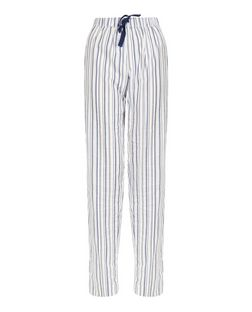Blue Stripe Woven Pyjama Bottoms | New Look