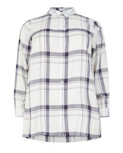 Curves White Check Shirt | New Look