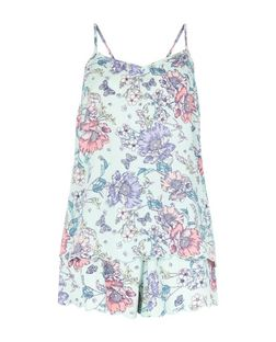 Tall Mint Green Floral Print Pyjama Set | New Look