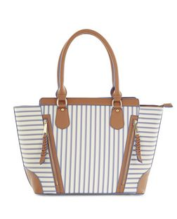White Stripe Shoulder Bag  | New Look
