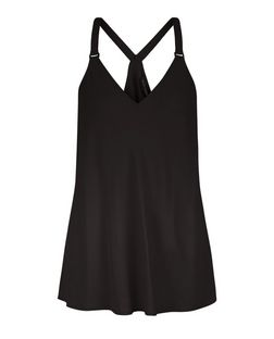 Black Buckle Strap Cami  | New Look