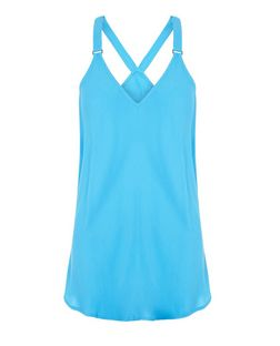 Bright Blue Buckle Strap Cami  | New Look