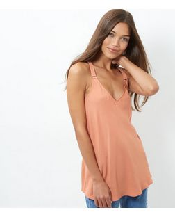 Coral Buckle Strap Cami | New Look