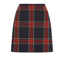 Red and Blue Check Mini Skirt  | New Look