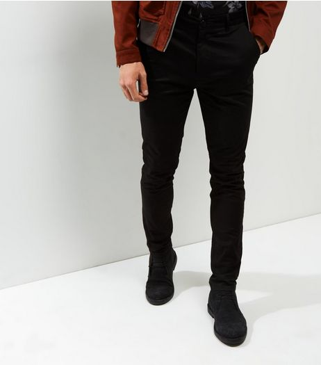 Black Skinny Chino  | New Look