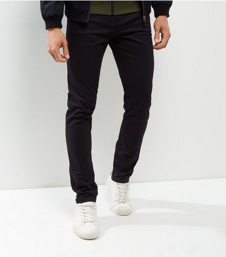 Navy Skinny Chino  | New Look