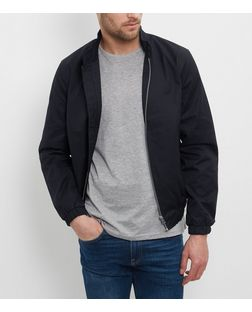 Navy Harrington Jacket  | New Look