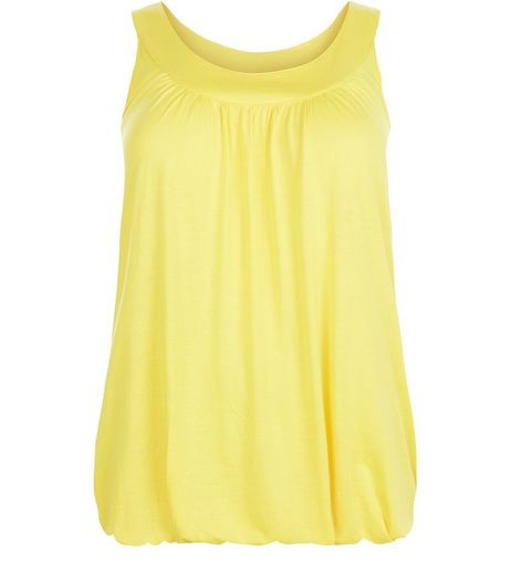 Curves Yellow Bubble Hem Vest | New Look