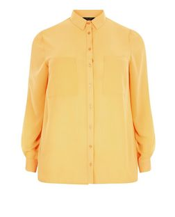 Plus Size Yellow Long Sleeve Shirt | New Look