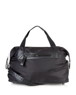 Black Chunky Zip Holdall Bag  | New Look