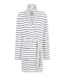 Blue Stripe Dressing Gown | New Look