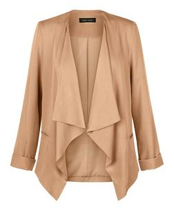 Camel Waterfall Blazer  | New Look