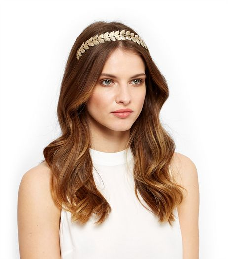 Gold Leaf Headband | New Look