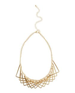 Gold Layered Triangle Necklace | New Look