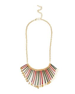 Gold Thread Spike Necklace | New Look
