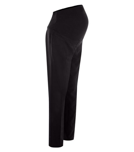 Maternity Black Over Bump Stretch Trousers  | New Look