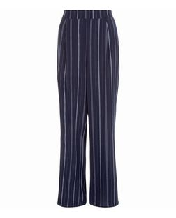 Blue Stripe Wide Leg Trousers  | New Look
