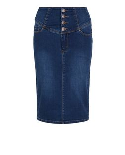 Blue Denim High Waisted Pencil Skirt | New Look
