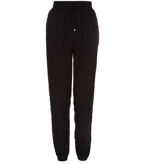 Tall Black Zip Pocket Joggers | New Look