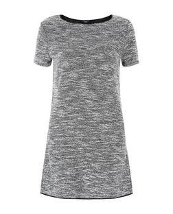 Petite Black Fine Knit Tunic Dress  | New Look