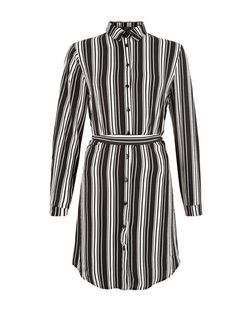 Tall Black Stripe Shirt Dress | New Look