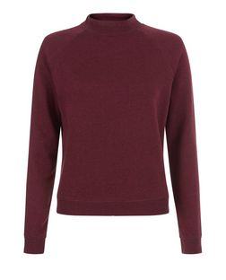 Teens Burgundy Turtle Neck Sweater | New Look