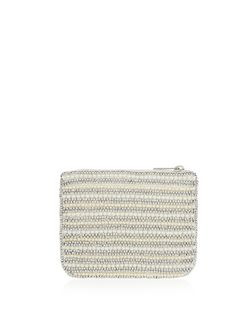 Cream Beaded Coin Purse  | New Look